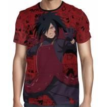 Camisa Color Mangá Premium - Uchiha Madara Modelo 02 - Naruto - Full Print
