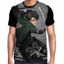 Camisa FULL Brush Levi Mod 02 - Shingeki no Kyojin
