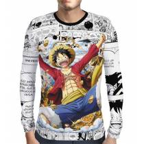 Camisa Manga Longa Print Luffy - ONE PIECE