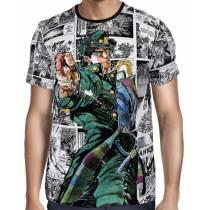 Camisa Full Print Mangá Power Jotaro - Jojo's Bizarre Adventure
