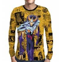 Camisa Manga Longa Ikki de Fênix  - Cavaleiros do Zodiaco