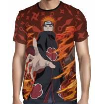 Camisa Naruto Shippuden - Pain - Color Print Red