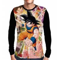 Camisa Manga Longa Kakarotto Goku - Dragon Ball
