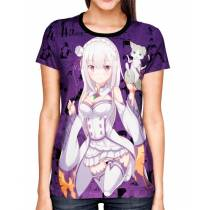 Camisa Color Print Purple - Emilie - Re: zero