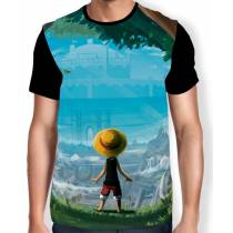 Camisa FULL Back Kid Luffy - One Piece
