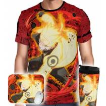 Kit Camisa Copo Mousepad - Naruto Sage Mode