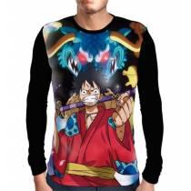 Camisa Manga Longa Luffy Samurai - One Piece