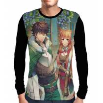 Camisa Manga Longa Naofumi E Raphtalia - Tate no Yuusha no Nariagari - The Rising of the Shield Hero
