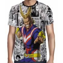 Camisa Full PRINT Mangá All Might Golden Age - Boku No Hero Academia