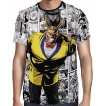 Camisa Full PRINT Mangá All Might Party - Boku No Hero Academia
