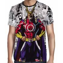 Camisa Full PRINT Mangá All Might Silver Age- Boku No Hero Academia