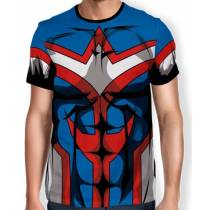 Camisa Full Print Uniforme - All Might - Boku no Hero