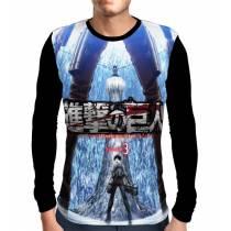 Camisa Manga Longa  Blue Season 3 - Shingeki no Kyojin