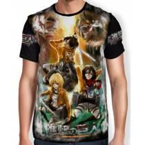 Camisa FULL Print Atack on Titan - Shingeki no Kyojin