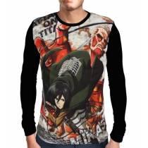 Camisa Manga Longa Mikasa Ackerman - Shingeki no Kyojin