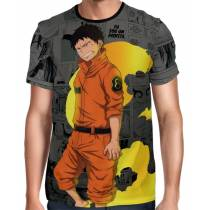 Camisa Full Print Mangá Exclusiva Shinra Modelo 04 Fire Force