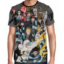 Camisa Full Print Mangá Exclusiva Fire Force