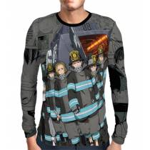 Camisa Manga Longa Color Print 8ª BRIGADA Fire Force