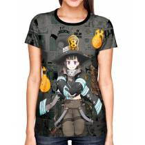 Camisa Full Print Mangá Exclusiva Maki Fire Force