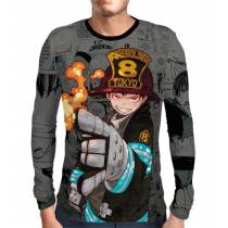 Camisa Manga Longa Color Print Exclusiva Shinra Modelo 03 Fire Force