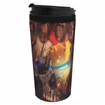 Copo Térmico Caveira Homem de Ferro - Vingadores - Ultimato