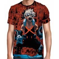 Camisa Full PRINT Red Mangá Angry Bakugou - Boku No Hero Academia