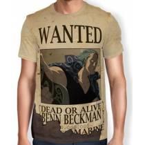 Camisa Full Print Wanted Benn Beckman - One Piece