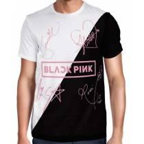 Camisa Full PRINT Blackpink - Nomes Preta/Branca - K-Pop