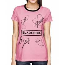 Camisa Full PRINT Blackpink - Nomes Rosa - K-Pop