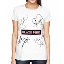 Camisa Full PRINT Blackpink - Nomes Branca - K-Pop