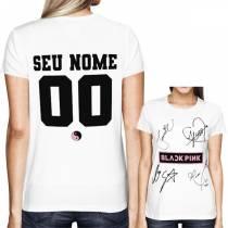 Camisa Full PRINT Blackpink - Autographs Branca - Personalizada - K-Pop