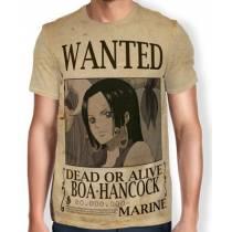 Camisa Full Print Wanted Boa Hancock - One Piece