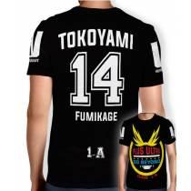 Camisa Full PRINT Go Beyond - Tokoyami Fumikage - Boku No Hero Academia