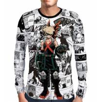 Camisa Manga Longa Mangá Bakugou Modelo 02 - Boku No Hero Academia
