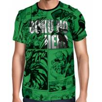 Camisa Full PRINT Green Name Mangá - Boku No Hero Academia