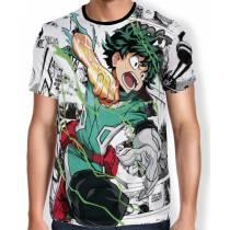 Camisa Full PRINT White Manga Midoriya - Boku No Hero Academia