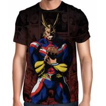 Camisa Full Color Print Red - All Mighty - Boku no Hero