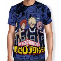 Camisa Full PRINT Blue Manga Bakugou Team - Boku No Hero Academia
