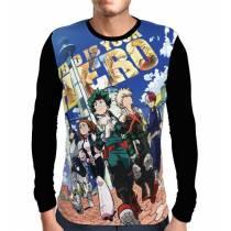 Camisa Manga Longa Full Who is Your Hero - Boku No Hero Academia The Movie Two Heroes