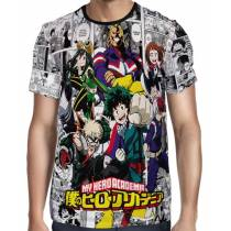 Camisa Full PRINT New Mangá Boku No Hero Academia