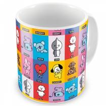 Caneca BTS - Collage BT21 - K-Pop