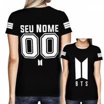 Camisa Full PRINT BTS - Personalizada Modelo Preto - K-Pop
