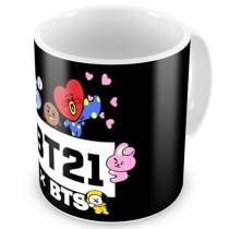 Caneca BTS x BT21 - Line Friends - K-Pop