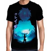 Camisa Full Minimalista Fairy Tail - Gray Fullbuster