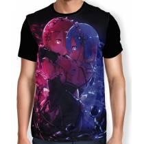 Camisa FULL Print Rem e Ram - Re: Zero Modelo 2