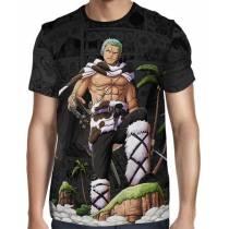 Camisa Dark Mangá Tony Zoro Modelo 02 - One Piece - Full Print