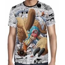 Camisa Mangá Chopper Improved Horn- One Piece - Full Print