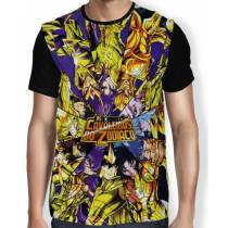 Camisa FULL Golden Saints - Saint Seiya - Cavaleiros do Zodiaco