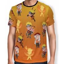 Camisa FULL Print Chibi Naruto Evolution
