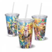 Copo Acrilico Digievoluçoes - Digimon Adventure